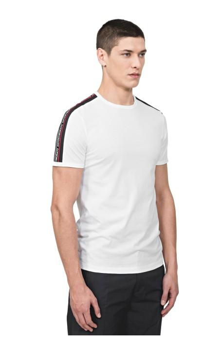Camiseta Antony Morato Blanca Con Cinta y Logo