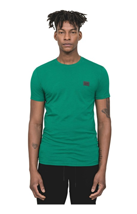 T-Shirt Antony Morato Green Sport With Plate
