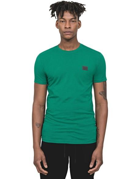 Camiseta Antony Morato Verde Deportiva Con Placa