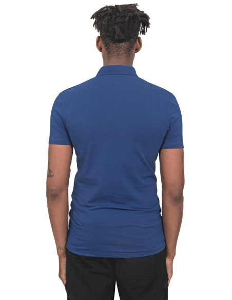 Polo Antony Morato Azul Slim Fit Con Placa
