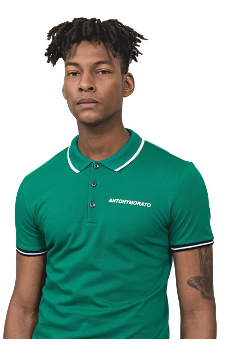 Polo Antony Morato Con Logo En Relieve