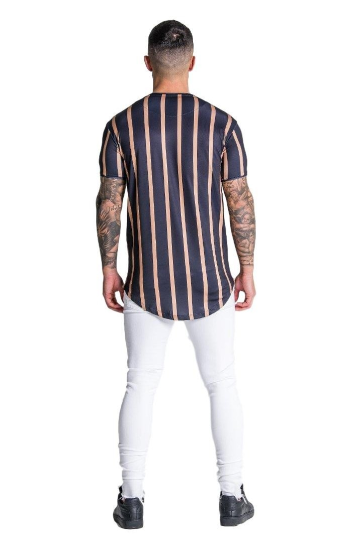 Camiseta Gianni Kavanagh Blanca con cinta brazo Lurex Oro GK