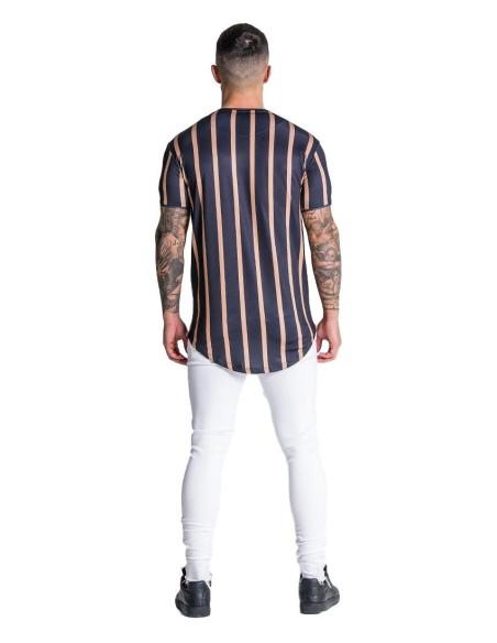 T-shirt Gianni Kavanagh Blanc avec ruban bras Lurex Or GK