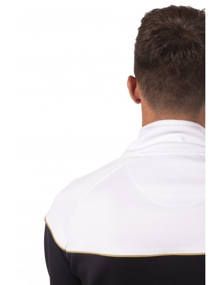 Chaqueta 11 Degrees Spector Zip Poly Negro/Blanco/Dorado