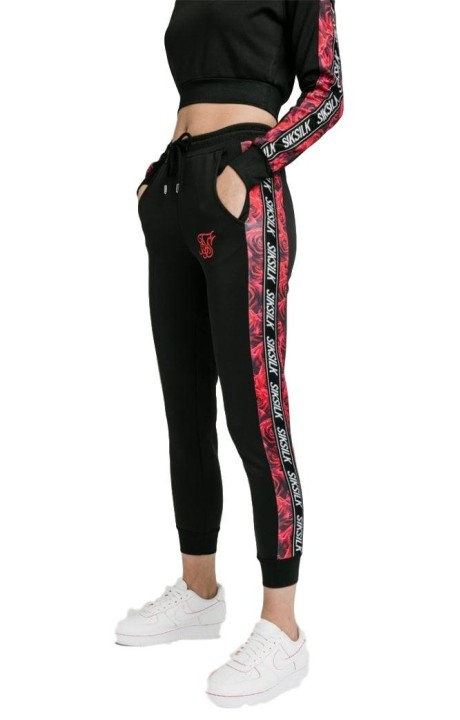 Pantalon SikSilk Rose Panel Poly Joggers Mujer