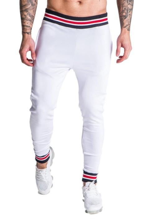 Pantalon Gianni Kavanagh Blanc avec bord côte Personnalisé