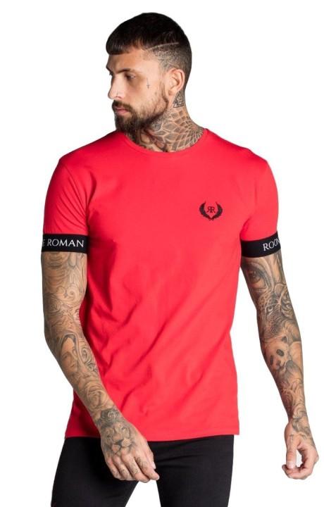 T-shirt Roone Romaine Rouge avec élastique à la RR