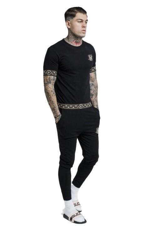 T-shirt Gianni Kavanagh Brocart et les bandes blanches
