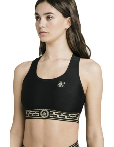 Top de Bikini SikSilk Athena Negro