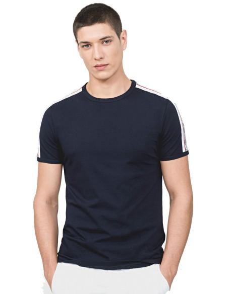 Camiseta Antony Morato Azul Marino Con Cinta y Logo