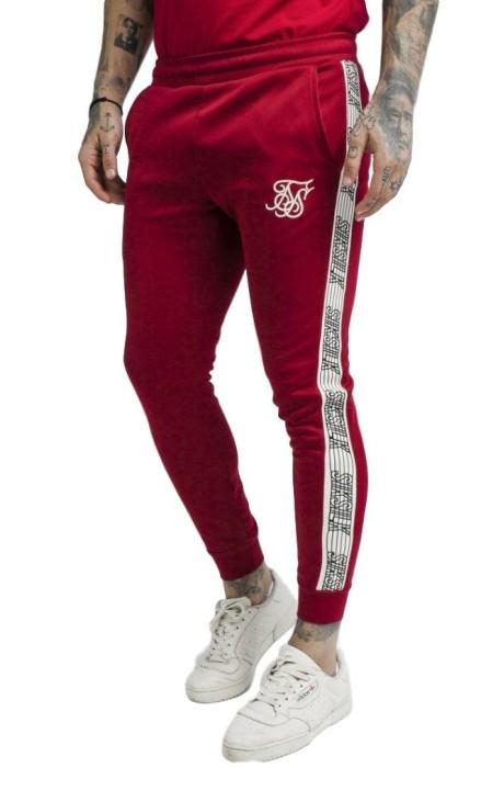 Pantalones SikSilk Cuffed Runner Rojo