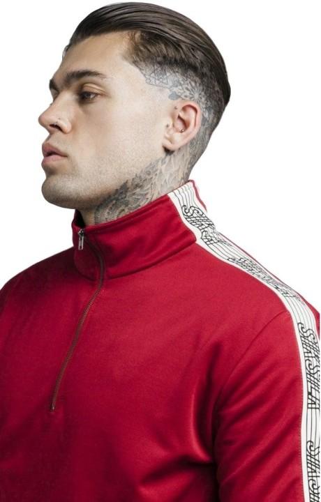 Jacket SikSilk Quarter Zip Runner Top Red