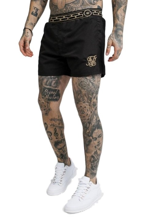 Shirt by SikSilk Reverse collar Black x Dani Alves
