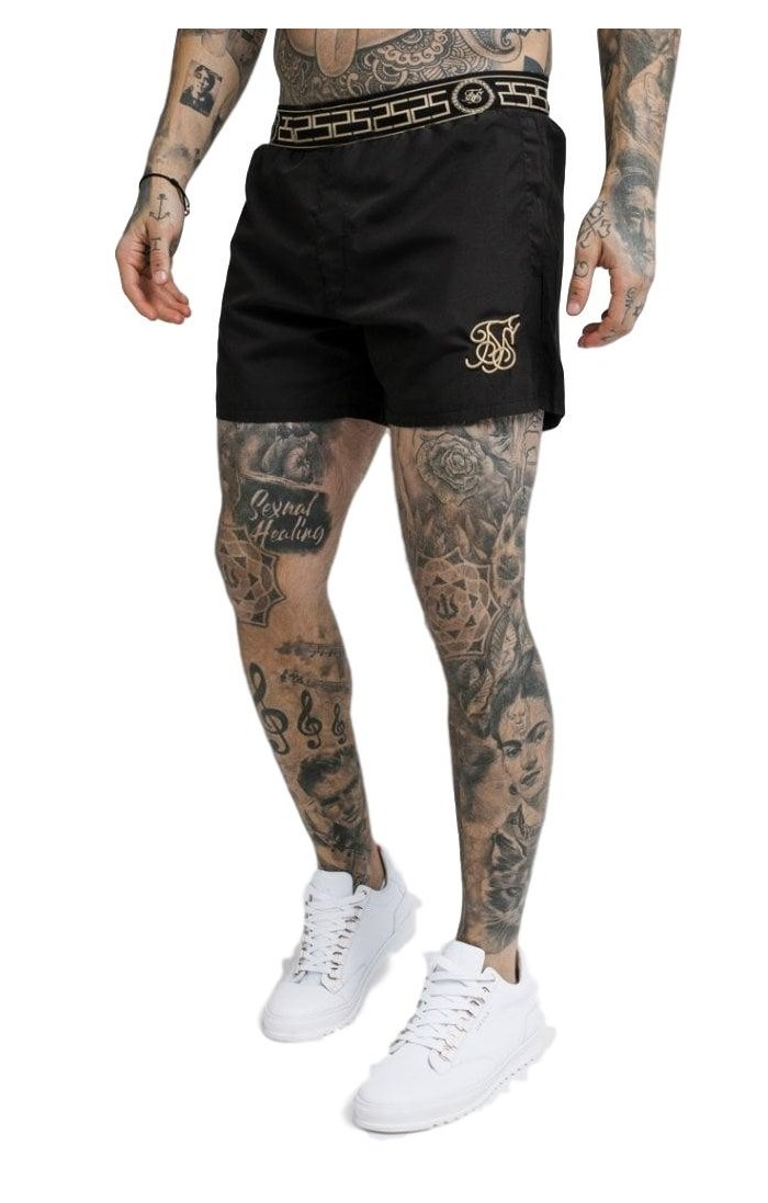 Shirt by SikSilk Reverse collar Black x Dani Alves