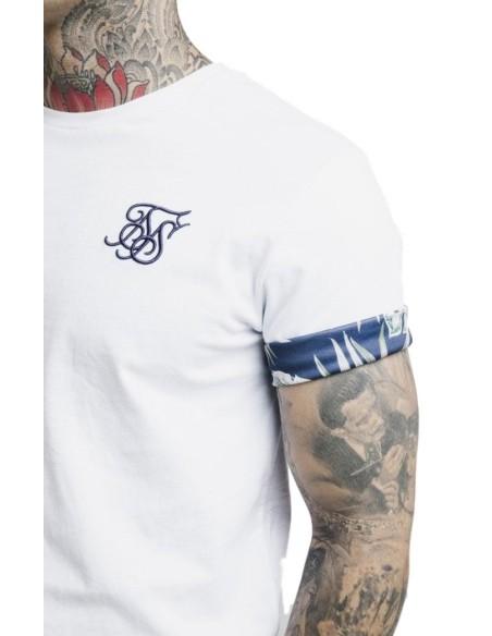 Camiseta SikSilk Reverse collar Negro x Dani Alves