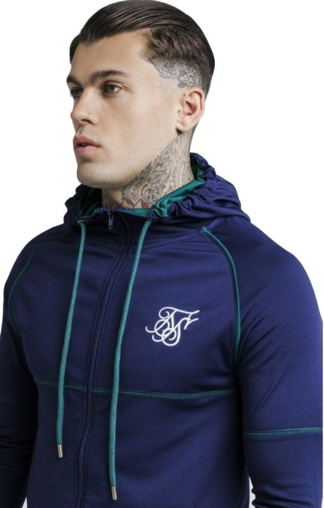 Sudadera SikSilk Zonal Zip Astral