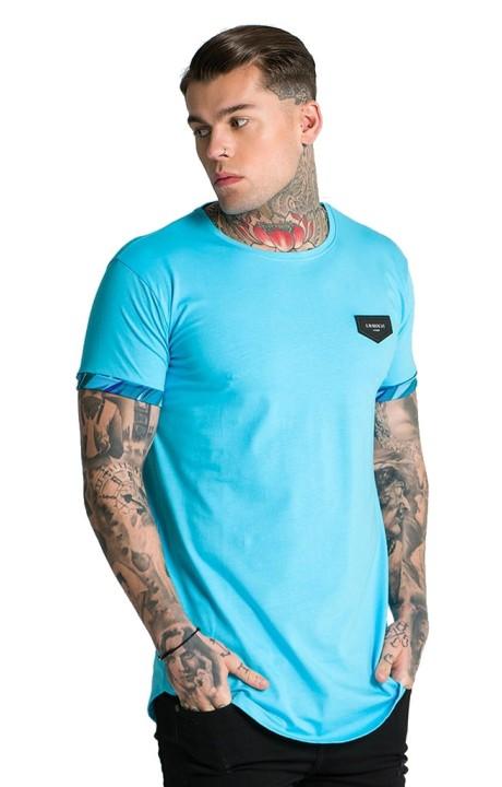 Camiseta Gianni Kavanagh Floral Azul Celeste