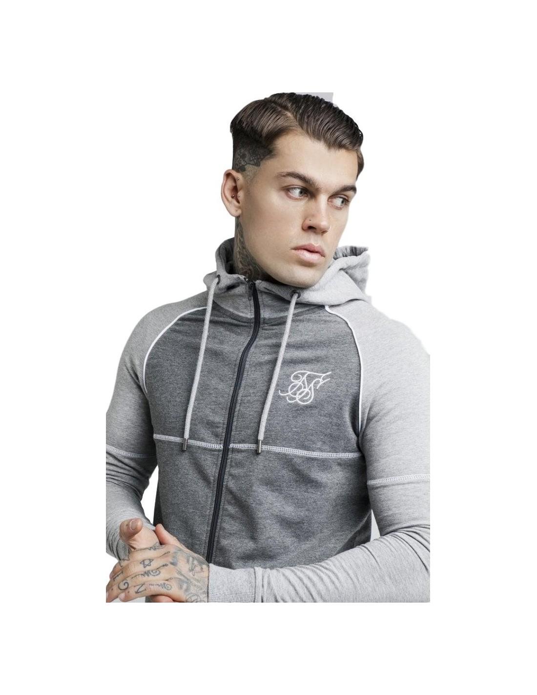 Sweatshirt with Hood SikSilk Phoenix Grey