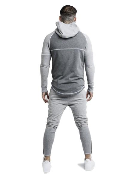 Sweat-shirt avec Capuche SikSilk Phoenix Gris