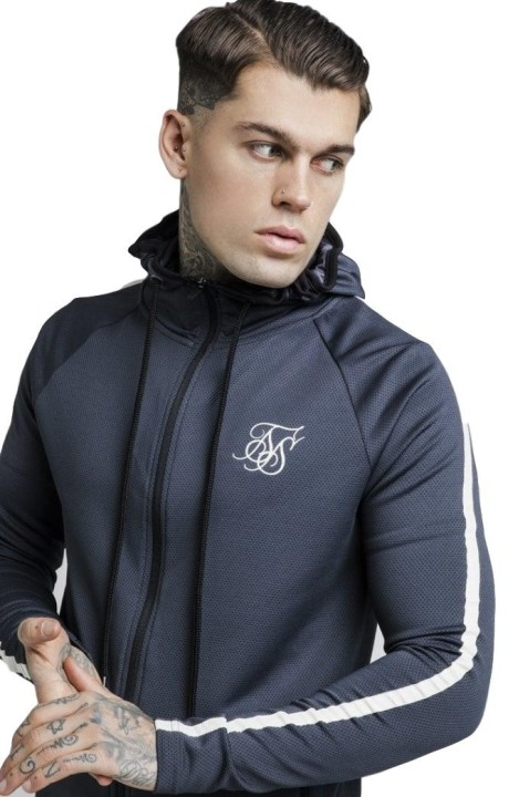 Sweat-Shirt SikSilk Hoodie Athlète Tech Couvercle Anthracite