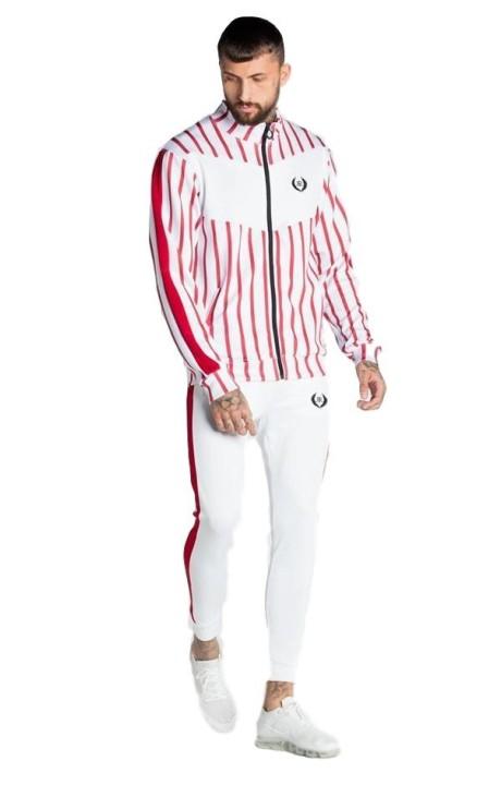 T-shirt Gianni Kavanagh et blanc à rayures avec logo
