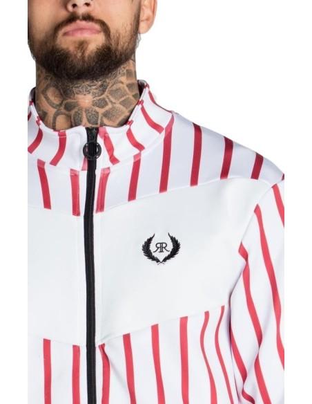 Camiseta Gianni Kavanagh blanca y rayas con logo