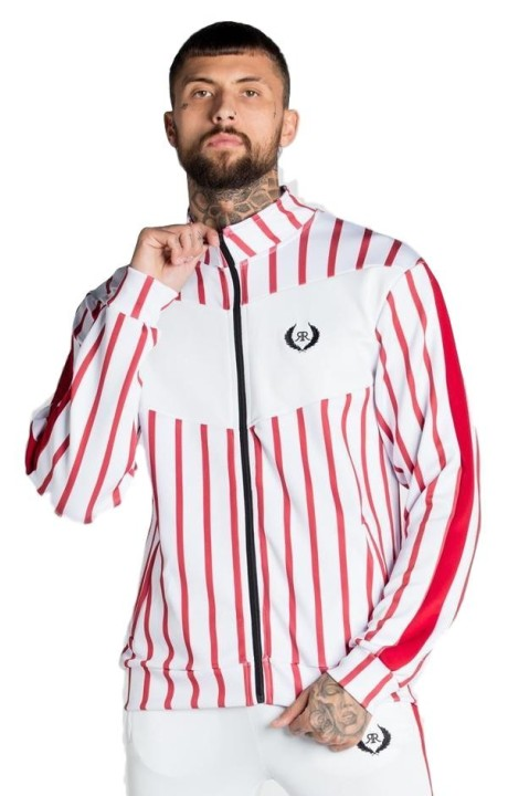 Chaqueta Roone Roman Striped Blanco y Rojo