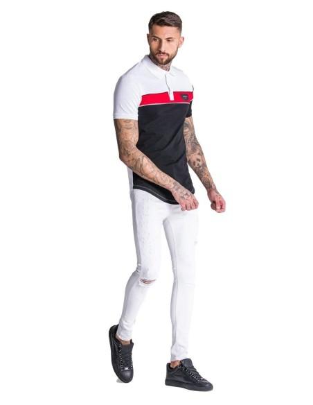 Camiseta Gianni Kavanagh negra y rayas con logo