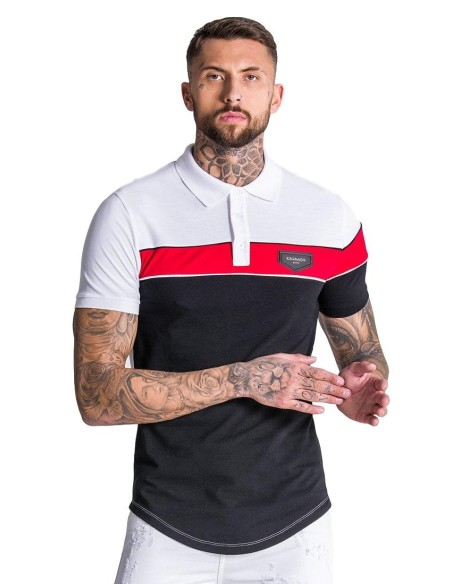 T-shirt Gianni Kavanagh and black stripes with logo