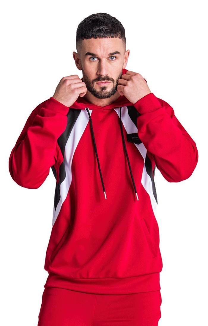 Sweat-Shirt Gianni Kavanagh Bandes Parallèles Rouge