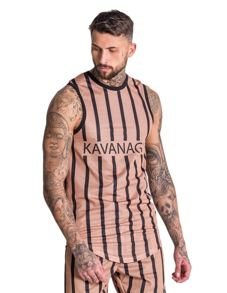 Camiseta de Tirantes Gianni Kavanagh Oro y Negro