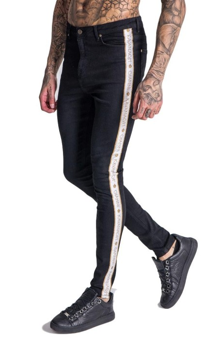 Jeans Gianni Kavanagh Negro con Ribbon GK Blanco