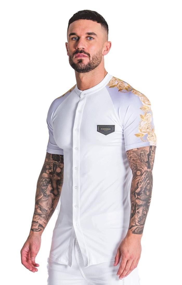 Camisa Gianni Kavanagh Opulencia Blanco y Oro