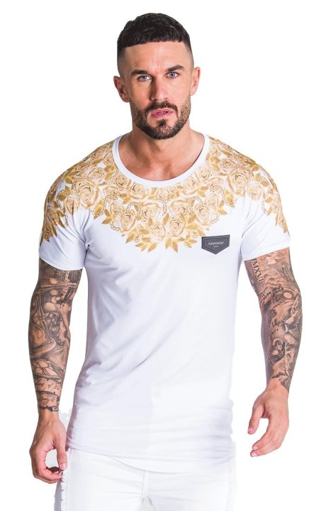 T-shirt Gianni Kavanagh Opulence White and Gold