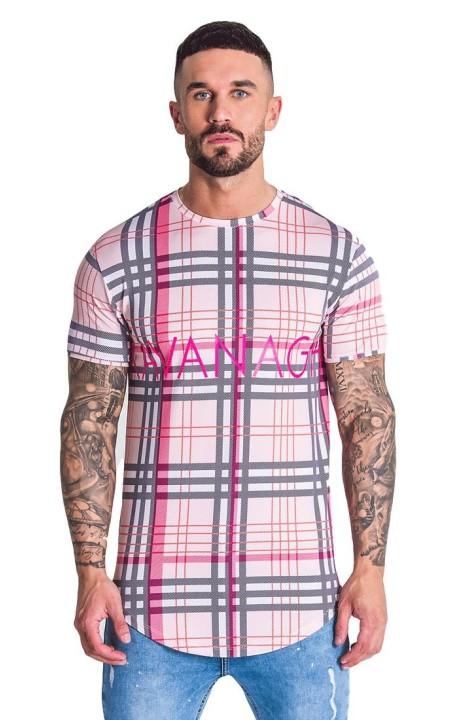 T-Shirt Gianni Kavanagh Pink Tartan Britannique