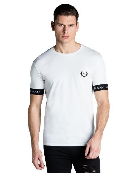 Camiseta Gianni Kavanagh bloques de color asimétrico negro.