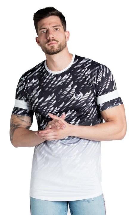 Camiseta Roone Roman Colorblock Negro y Blanco
