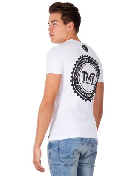 T-Shirt Drich Mayweather D'Argent De L'Équipe De Blanc