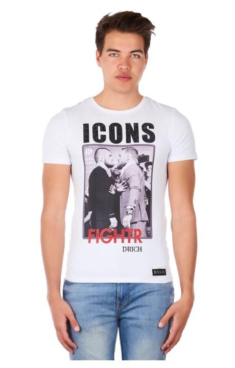 Camiseta Drich Icons Khabib y Mcgregor Blanca