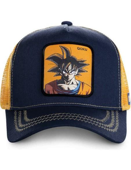 Gorra Capslab Goku Dragon Ball Marino Naranja