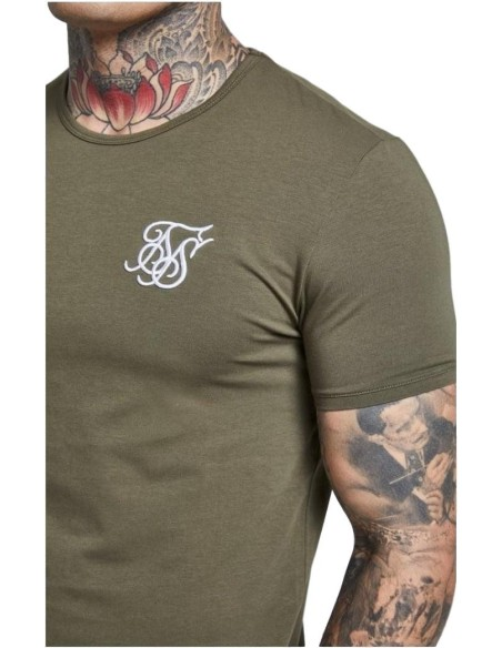 Shirt by SikSilk Marbleise opening hem White