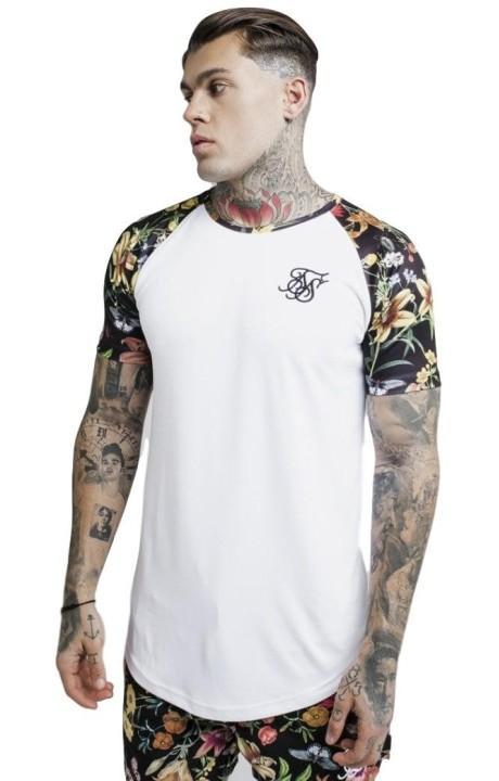 Camiseta SikSilk Jardin Secreto Raglan con Dobladillo Curvo