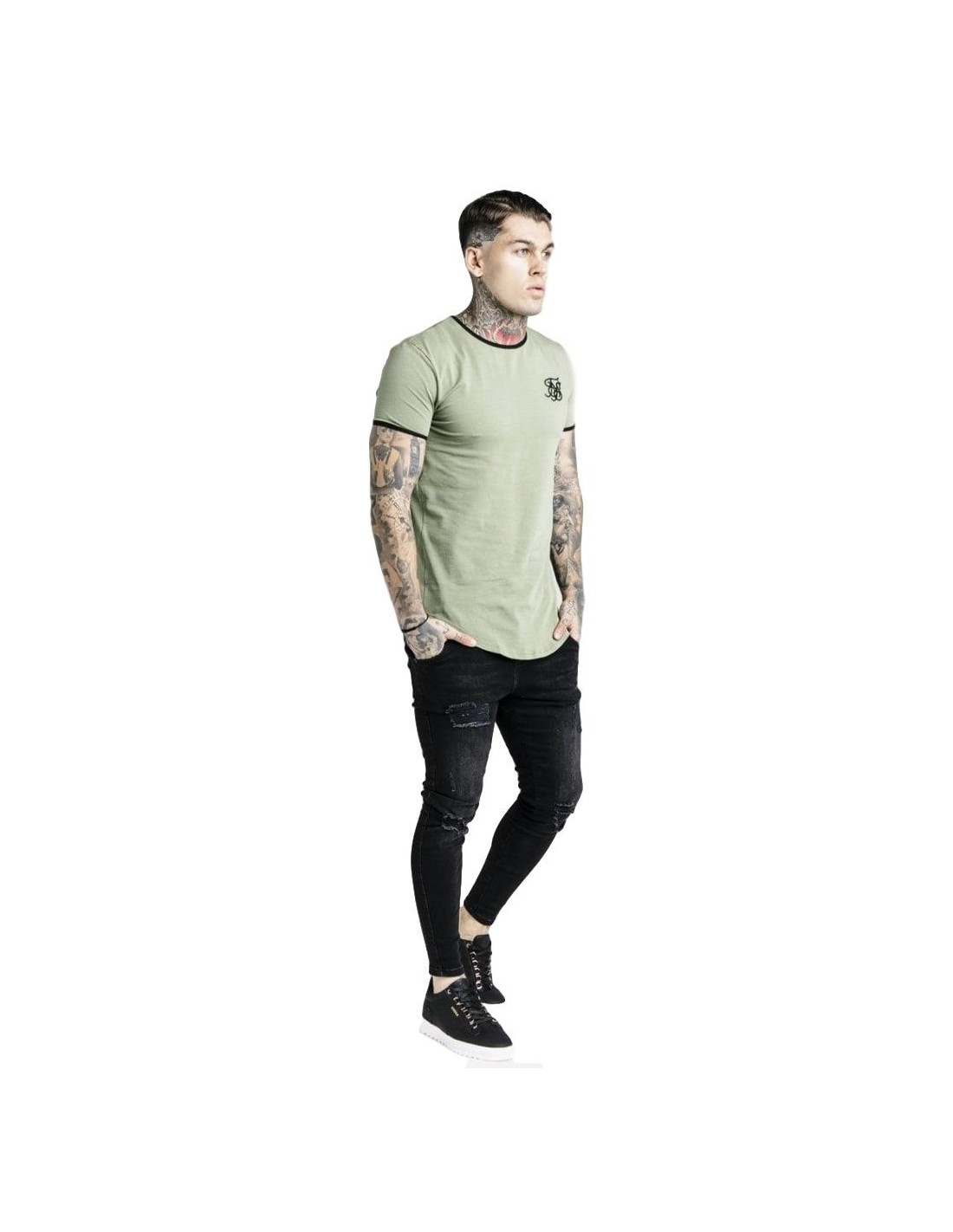 Pantalon SikSilk Reflective Sprint Antracita