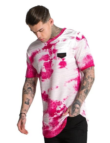Camiseta Manga Corta Gianni Kavanagh Edicion Limita Rosa/Blanco