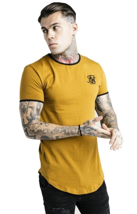 Camiseta SikSilk Ringer Gym Caqui