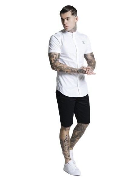 Shirt By SikSilk Raglan Reflect Tee - Anthracite
