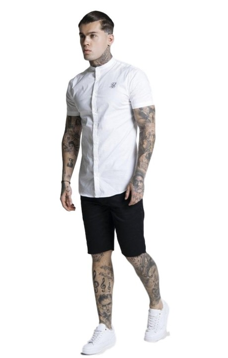 Camiseta SikSilk Raglan Reflect Tee - Negro