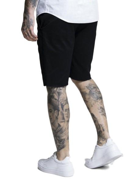 Camiseta SikSilk Raglan Reflect Tee - Negro