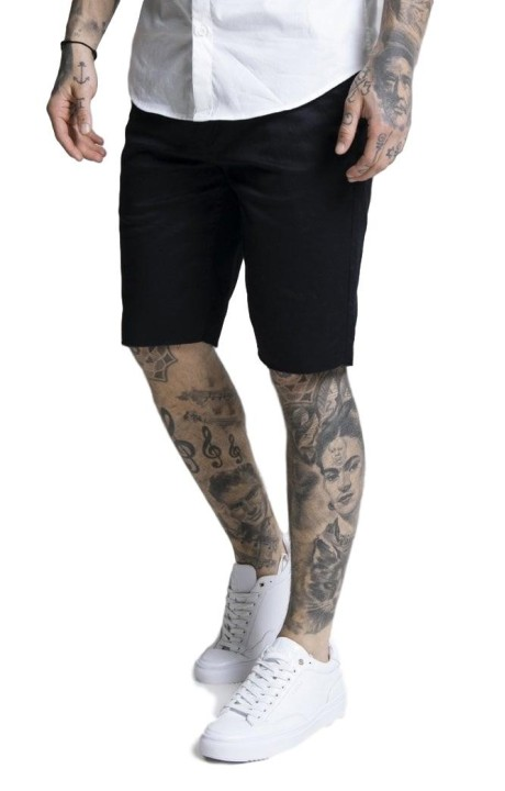 Pantalon Chino short SikSilk Raw Hem Navy