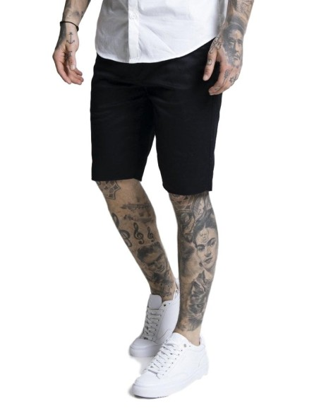Pantalon Chino corto SikSilk Raw Hem Marino